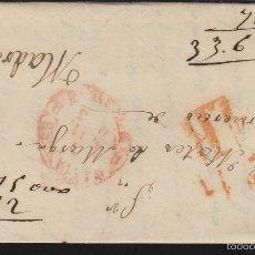 Sellos: PREFILATELIA CANTABRIA : CARTA SANTANDER / MADRID AÑO 1853 MARCA BAEZA TASA 1 R Y FECHADOR LLEGADA . Lote 55791884