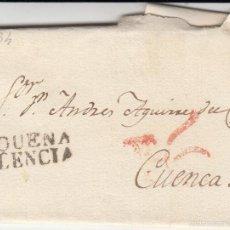 Sellos: PREFILATELIA.- CARTA COMPLETA DE REQUENA A CUENCA --1834---. Lote 56021910