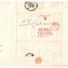 Sellos: SOBRE PREFILATELIA BILBAO - VIZCAYA - BAYONA. FRANCIA. AÑO 1839. Lote 56259451