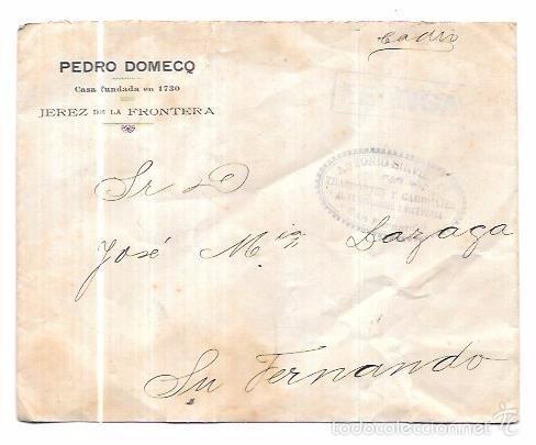 SOBRE COSARIO. ANTONIO SIRVIENTE. SAN FERNANDO. CADIZ. (Filatelia - Sellos - Prefilatelia)