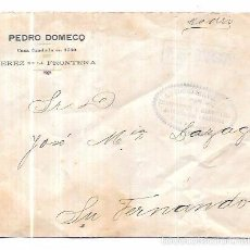 Sellos: SOBRE COSARIO. ANTONIO SIRVIENTE. SAN FERNANDO. CADIZ.. Lote 56381108