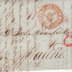 Sellos: PREFILATELIA.- CARTA COMPLETA DE SANTOS ALONSO DE SEVILLA A MADRID ---1843--. Lote 56592171