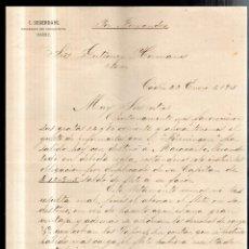 Sellos: COSARIO. POR FERNANDEZ. C.SEGERDAHL. SOCIEDAD EN COMANDITA. CADIZ. 1895. Lote 56626872