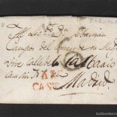 Sellos: PREFILATELIA - CARTA ORIGEN ARÉVALO ( ÁVILA) - 1827 DESTINO MADRID A . Lote 57092831