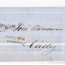 Sellos: COSARIO. 1857. PAUSADELA Y COMPAÑIA. . Lote 57101040