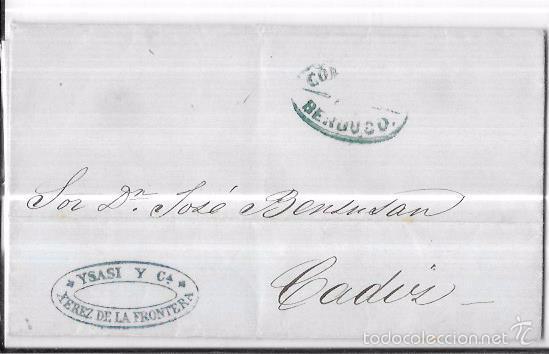 COSARIO. 1854. BERDUGO Y COMPAÑIA. (Filatelia - Sellos - Prefilatelia)