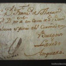 Sellos: PREFILATELIA AÑO 1765. DE VALLADOLID A AMPUERO (CANTABRIA). CARTA PREFILATÉLICA. . Lote 57155136