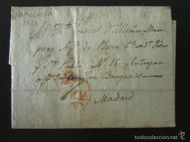 PREFILATELIA AÑO 1821. DE VALENCIA A MADRID. CARTE PREFILATÉLICA. (Filatelia - Sellos - Prefilatelia)