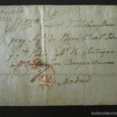 Sellos - PREFILATELIA AÑO 1821. DE VALENCIA A MADRID. CARTE PREFILATÉLICA. - 57155286