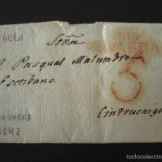 Sellos: PREFILATELIA AÑO 1842. DE TUDELA A CINTRUÉNIGO (NAVARRA). CARTA PREFILATÉLICA. . Lote 57156227