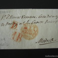 Sellos: PREFILATELIA AÑO 1849. GETAFE. MADRID. CARTA PREFILATÉLICA. . Lote 57157645