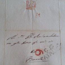 Sellos: PREÑANOSA LA PRENYANOSA CERVERA A BARCELONA AÑOS 1828 LOTE DE 3 CARTAS EN CATALÁN . Lote 57397608