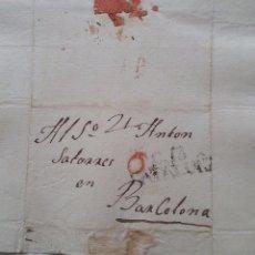 Sellos: GUISSONA LLEIDA A BARCELONA AÑO 1829 CARTA EN CATALÁN PIDIENDO CARIDAD. Lote 57397728