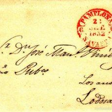 Timbres: PREFILATELIA.- CARTA COMPLETA CON BAEZA DE PAMPLONA --1852---. Lote 57940209