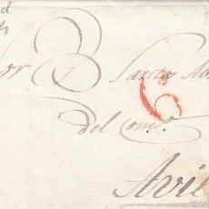 Sellos: PREFILATELIA.- CARTA COMPLETA DE MADRID A AVILA --1834---. Lote 57940250