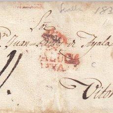 Sellos: PREFILATELIA.- CARTA COMPLETA DE SEVILLA A VITORIA --1830-- PLUMILLA. Lote 57940363