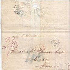 Sellos: PREFILATELIA. ENVUELTA DE 1858 DE INGLATERRA A CÁDIZ. MARCA MP AL DORSO.´CORREO MARTÍTIMO. Lote 58127311