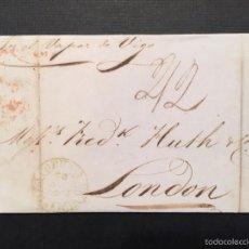 Sellos: AÑO 1844. CARTA PREFILATÉLICA DE CORUÑA A LONDRES, POR EL VAPOR DE VIGO.. Lote 60354759