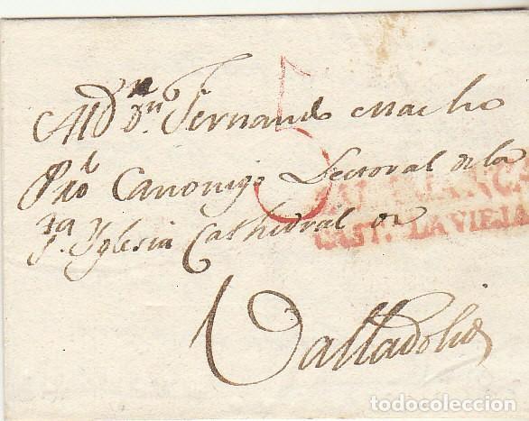 CARTA : SALAMANCA A VALLADOLID 1818 (Filatelia - Sellos - Prefilatelia)
