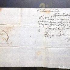 Sellos: CARTA DE 1807.CALAHORRA LA RIOJA.RIOXA.LOGROÑO -CALAHORRA. Lote 68037773