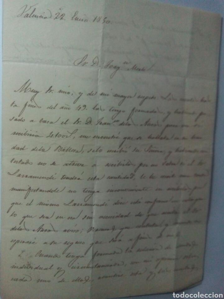 Sellos: Prefilatelia Valencia carta 1850 de Valencia a Borja - Foto 2 - 69646462