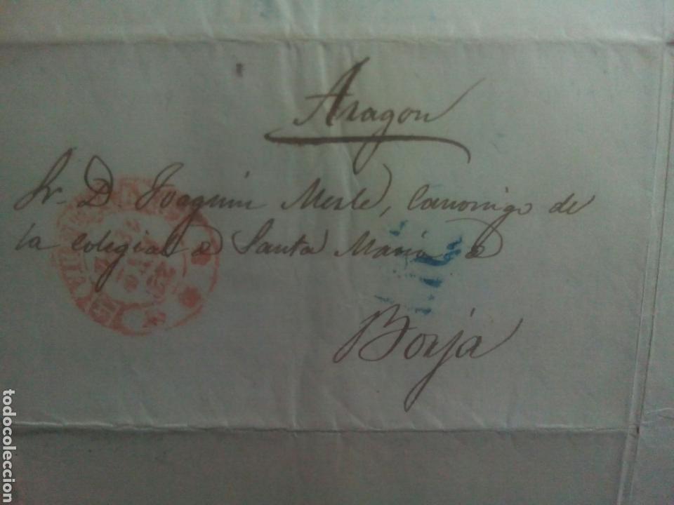 PREFILATELIA VALENCIA CARTA 1850 DE VALENCIA A BORJA (Filatelia - Sellos - Prefilatelia)