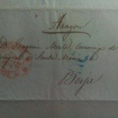 Sellos: PREFILATELIA VALENCIA CARTA 1850 DE VALENCIA A BORJA. Lote 69646462