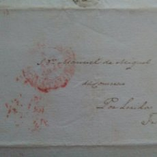 Sellos: PREFILATELIA ARAGÓN ENVUELTA 1848 A FRAGA BAEZA LLEGADA FRAGA. Lote 72037382