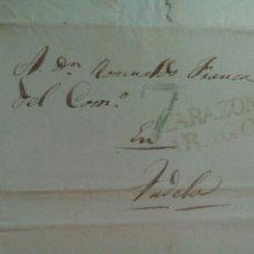 Sellos: PREFILATELIA ARAGÓN CARTA 1840 DE MALLÉN A TUDELA MARCA TARAZONA PORTEO 7. Lote 72343401