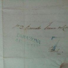 Sellos: PREFILATELIA ARAGÓN CARTA 1840 DE MALLÉN A TUDELA MARCA TARAZONA PORTEO 7. Lote 72343625