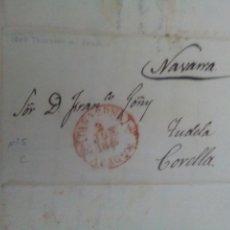 Sellos: PREFILATELIA ARAGÓN CARTA 1847 DE TARAZONA A CORELLA BAEZA TARAZONA. Lote 72352693