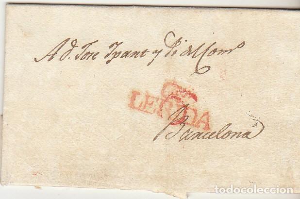 LERIDA A BARCELONA. 1829. (Filatelia - Sellos - Prefilatelia)