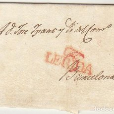 Sellos: LERIDA A BARCELONA. 1829.. Lote 72444003