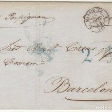 Sellos: MARSELLA A BARCELONA. 1856.. Lote 72444403