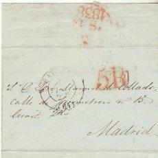 Sellos: BAYONA A MADRID. 1838.. Lote 72444723