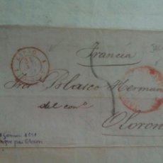Sellos: PREFILATELIA ARAGÓN CARTA 1951 DE JACA A OLORON FRANCIA. Lote 73036719