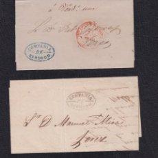 Sellos: 1849 Y 1857.- CÁDIZ A JEREZ DE LA FRONTERA. Lote 74942919