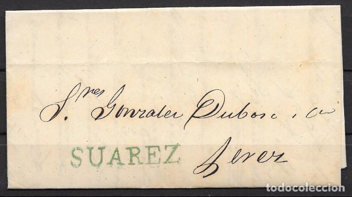 1857. CADIZ A JEREZ DE LA FRONTERA. COSARIO. (Filatelia - Sellos - Prefilatelia)
