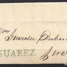 Sellos: 1857. CADIZ A JEREZ DE LA FRONTERA. COSARIO.. Lote 75027699
