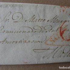 Sellos: PREFILATELIA SALAMANCA : CARTA SALAMANCA / MADRID AÑO 1839, 27 DE FEBRERO, PORTEO 6 Y FECHADOR. Lote 75256231