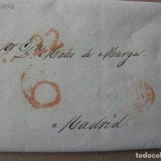 Sellos: PREFILATELIA CASTILLA : CARTA PALENCIA / MADRID AÑO 1839 20 ENERO CON PORTEO Y FECHADOR. Lote 76547155