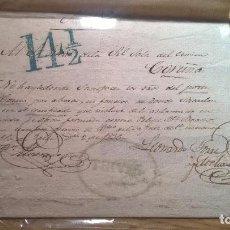 Sellos: TRIVES (ORENSE) A LA CORUÑA 1836. Lote 205846110