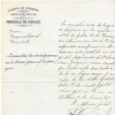 Sellos: CUERPO CORREOS ADMINISTRACION PRINCIPAL VIZCAYA BILBAO FILATELIA SEGOVIA 1895. Lote 78279509