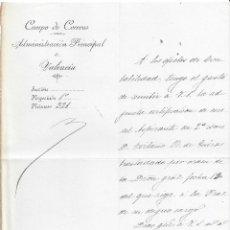 Sellos: ADMINISTRACION PRINCIPAL CORREOS VALENCIA DOCUMENTO FILATELIA DIFICIL ENCONTRAR 1893 SEGOVIA. Lote 78280409