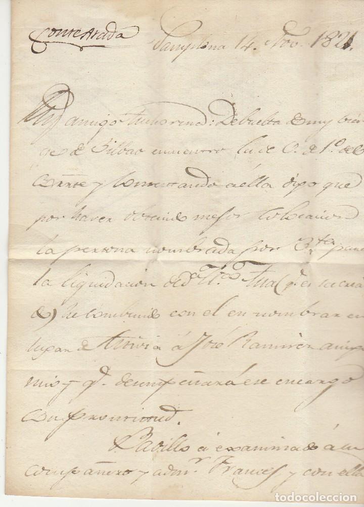 Sellos: PAMPLONA a TUDELA : 1821. - Foto 2 - 78994005