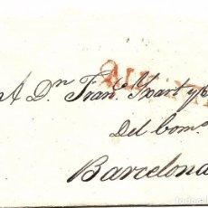 Sellos: CARTA PREFILATELIA AÑO 1827 - ALICANTE CON DESTINO BARCELONA -COMPLETA. Lote 79066665