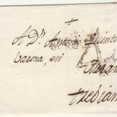 Sellos: FRONTAL : BURGOS A TREVIANA-LOGROÑO. 1803.. Lote 79222273