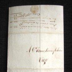 Sellos: AÑO 1820. KINGSTON (JAMAICA) A VIGO. CARTA PREFILATÉLICA. CIRCULADA POR PAQUEBOTE STANNER, CAPITÁN. . Lote 81082484