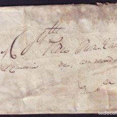 Sellos: ESPAÑA. 1826. CARTA DE LECUMBERRI A PAMPLONA. MANUSCRITO * CON RECADO *. POR PARTICULAR. MUY RARA.. Lote 82640532