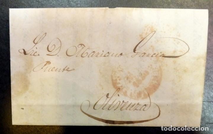 CARTA CIRCULADA EN 1850, ENTRE CACERES Y OLIVENZA, VER IMAGENES (Filatelia - Sellos - Prefilatelia)